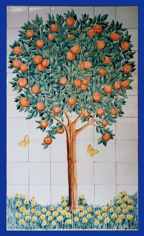 Orange Tree Tile Panel