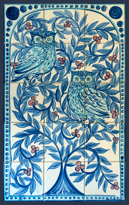Owls Tree Tile Panel JS2016