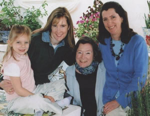 Oonagh Swift with daughters and granddaughter