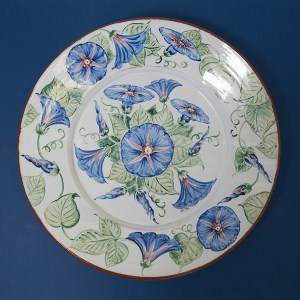 Morning Glory Wall Plate by Estela Swift-Goldmann
