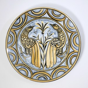 Two Proud Birds Wall Plate