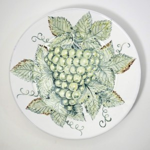 Grapes Wall Plate by Estela Swift Goldmann