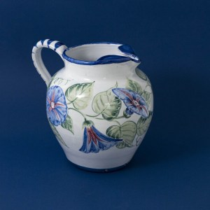 Morning Glory Jug by Estella Swift Goldmann